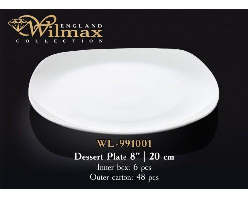 Тарелка Wilmax WL-991001 десертная квадратная 20 см