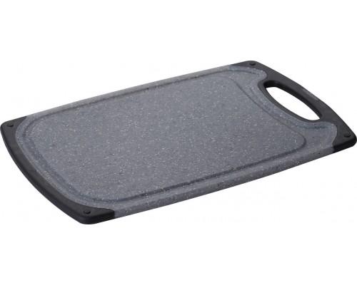 Доска кухонная разделочная Bergner 4233, 31.5*20*0.9 см, мраморный пластик.