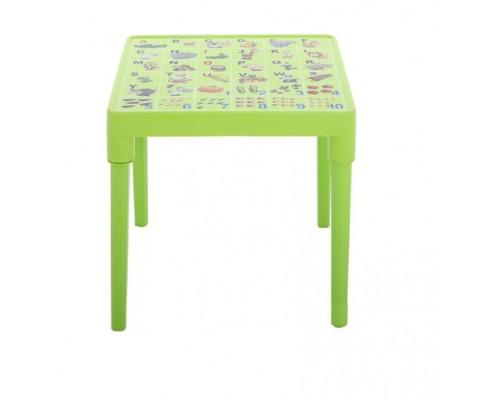 Стол детский английская азбука 51 х 51 см h-47 см оливковой Алеана-100028 PM