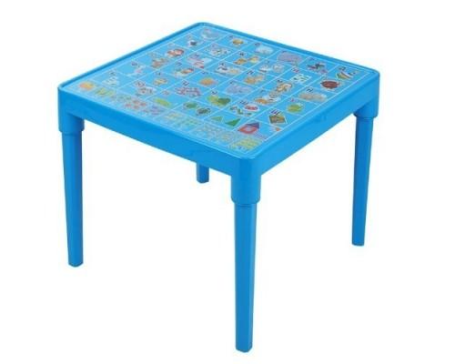 Стол детский Азбука Украинская 51 х 51 см h-47 см голубой Алеана-100027 PM