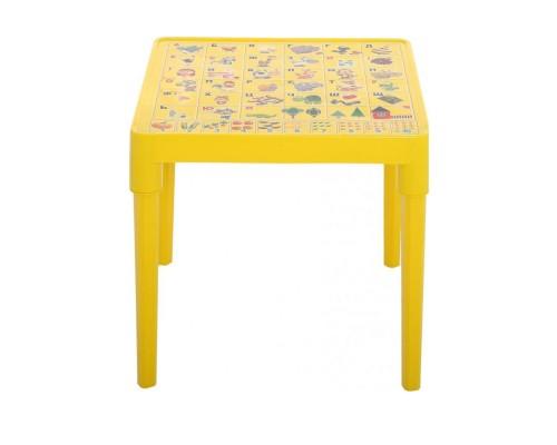 Стол детский Азбука Украинская 51 х 51 см h-47 см желтый Алеана-100027 PM