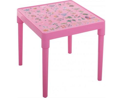 Стол детский Азбука Украинская 51 х 51 см h-47 см розовой Алеана-100027 PM