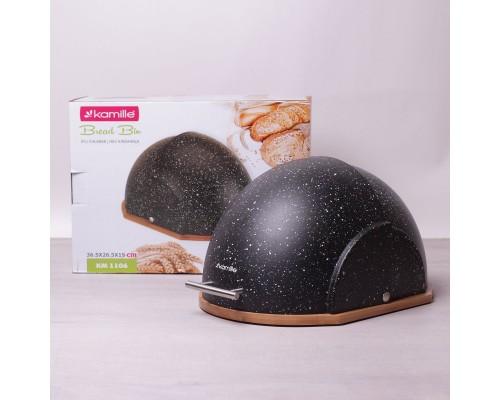 Хлебница Kamille 1106/b 38,5х26,5х20 см. черная.