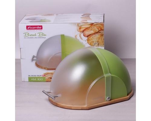 Хлебница Kamille 1100/g 36,5х26,5х19 см. салатовая.