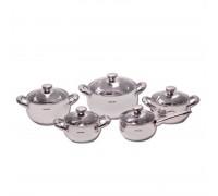 Набор посуды Kamille 4020S 10 предметов (2,1 литра, 2.9 литра, 4.1л, 6.7л, ковш 2.1л)