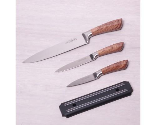 Набор ножей Kamille 5042 из 4 предмета на магнитной полосе.