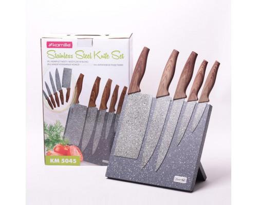 Набор ножей Kamille 5045 из 5 предметов подставке.
