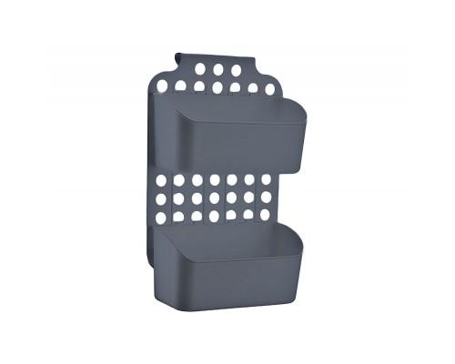 Навесной органайзер на дверку кухни/ванной серый Dunya 09167 PM